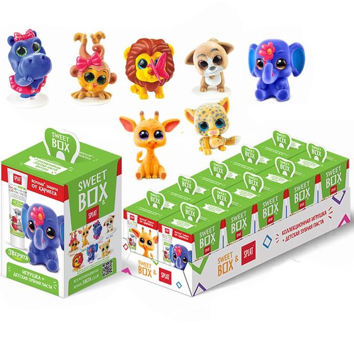 Детская зубная паста SPLAT в наборе с игрушкой Sweet Box 10 штук