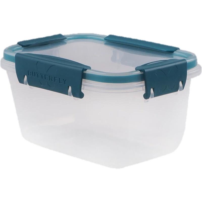Контейнер с клапанами на крышке, пищевой герметичный дополнительными зажимами фиксаторами, подходит для микроволновых печей, хранение и заморозка