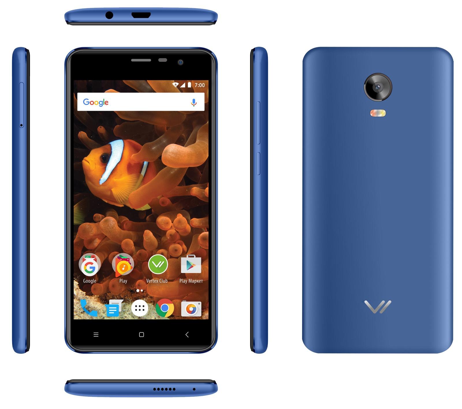Смартфон Vertex Impress Reef 2/16GB, синий Vertex