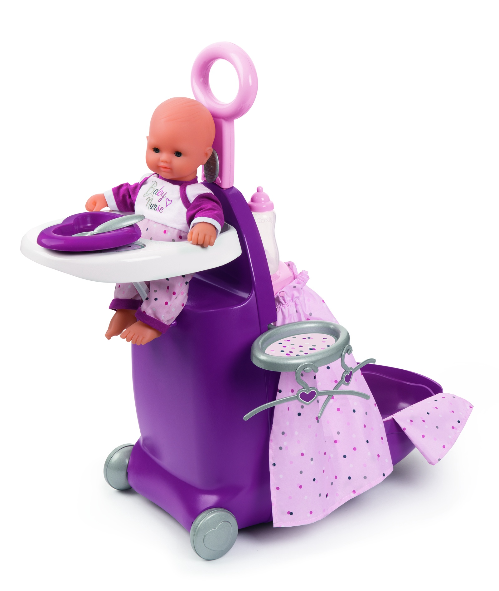 Baby Nurse Набор для кормления и купания пупса в чемодане, 26х47х62 см аксессуары для купания