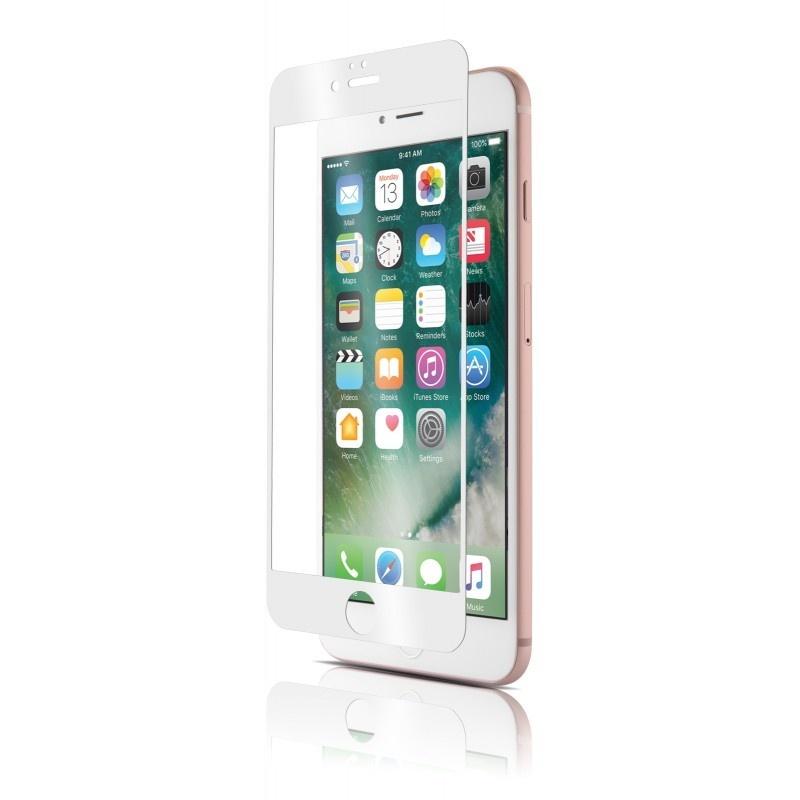 Защитное стекло Grand Full Glue FIBER для iPhone 7/8 с силиконовой окантовкой , белый