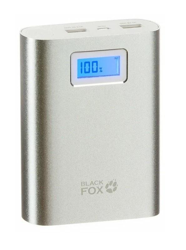 Внешний аккумулятор Black Fox Power Bank BMP104S LCD 10400 мАч Серебристый