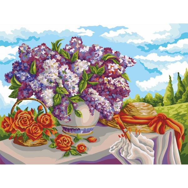 Рисование По Номерам На Холсте, Аромат Сирени, Дандорф О., Размер 40*50 букет сирени