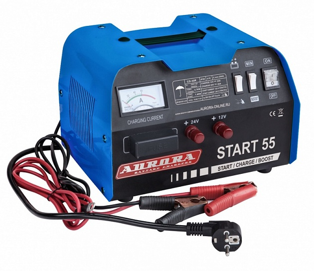 Профессиональное пуско-зарядное сетевое устройство Aurora START 55 BLUE 12/24В