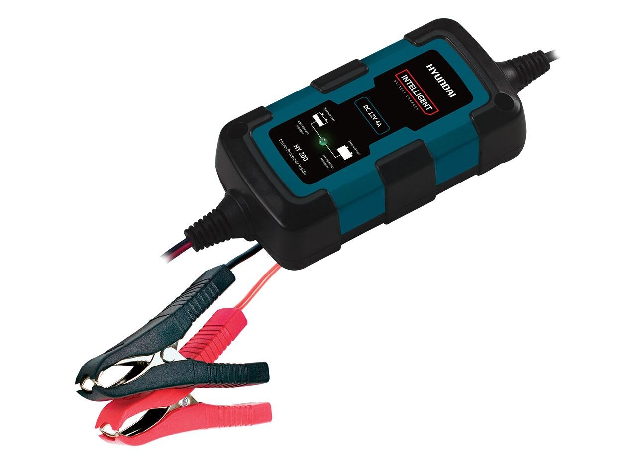 Устройство зарядное автоматическое АКБ HYUNDAI HY 200 (12В, 1.5А) устройство зарядное универсальное акб hyundai hy 400 6 12в 4а 9стадий