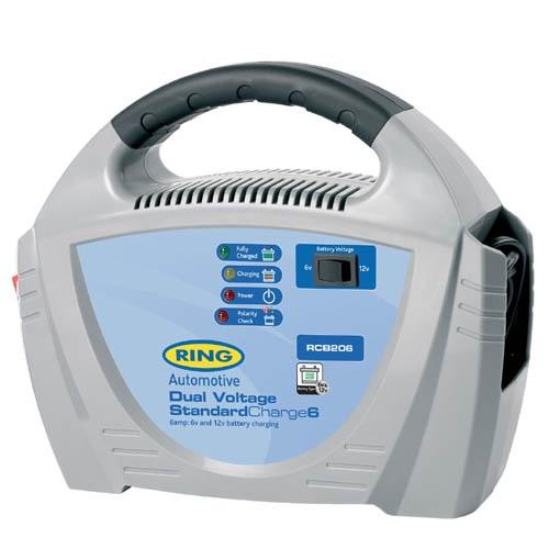 Устройство зарядное Ring Automotive RECB206 (6/12В, 6А) зарядное устройство зубр 6в 12в 4а профессионал 59300