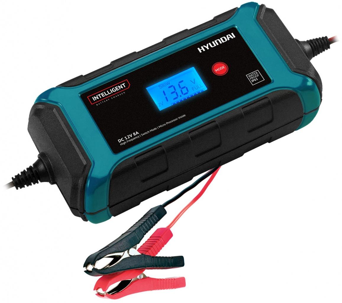 Устройство зарядное АКБ HYUNDAI HY 800 (12В, 8А) устройство зарядное универсальное акб hyundai hy 400 6 12в 4а 9стадий