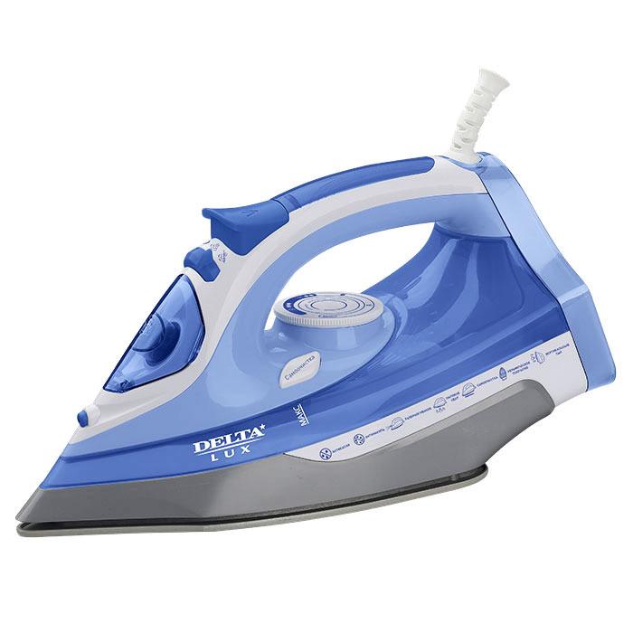 Утюг Delta Lux DL-712, белый, синий