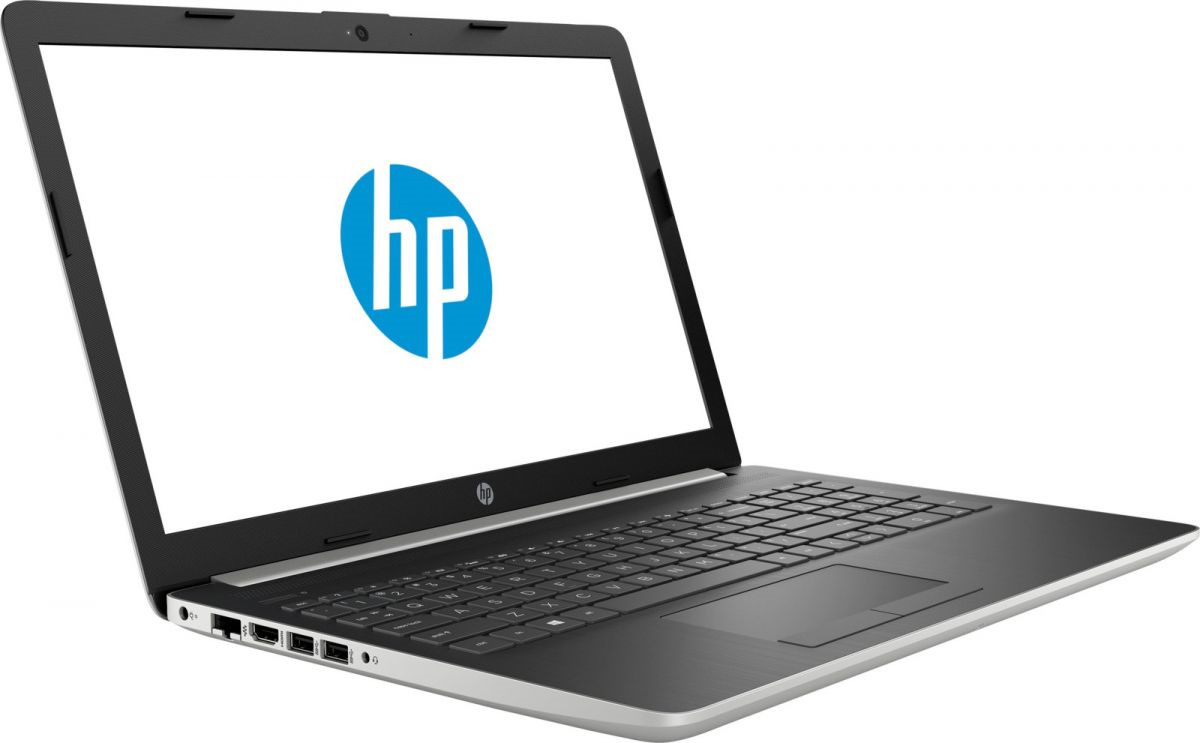 15,6 Ноутбук HP 15-dw0005ur 6PL53EA, серебристый ноутбук hp 15 da0136ur silver 4ju26ea intel core i7 8550u 1 8 ghz 8192mb 1000gb 128gb ssd nvidia geforce mx130 2048mb wi fi bluetooth cam 15 6 1920x1080 windows 10 home 64 bit