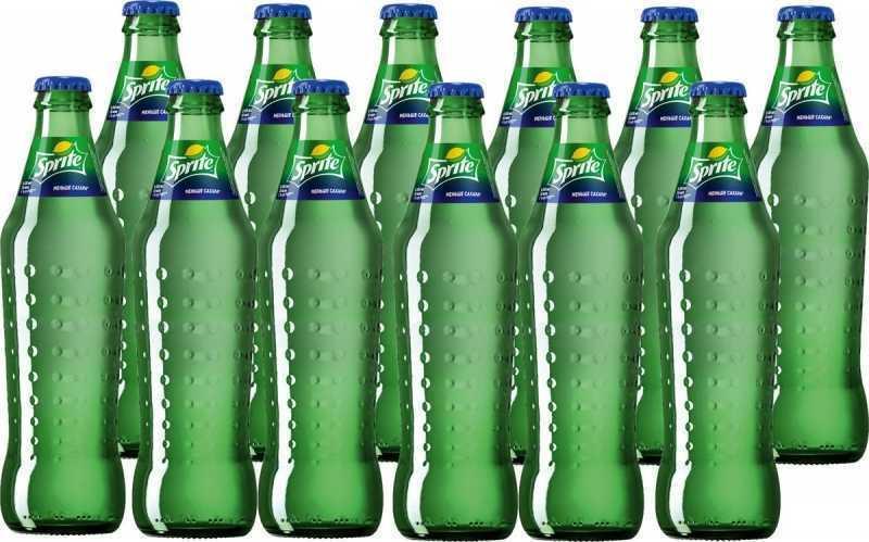 Напиток SPRITE газированный стекло (упаковка 12 штук), 0,33л