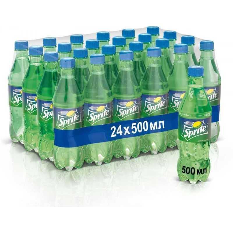 Напиток SPRITE газированный (упаковка 24 штуки), 0,5л