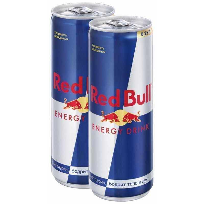 Напиток Red Bull энергетический ж/б, 0,25л*2шт