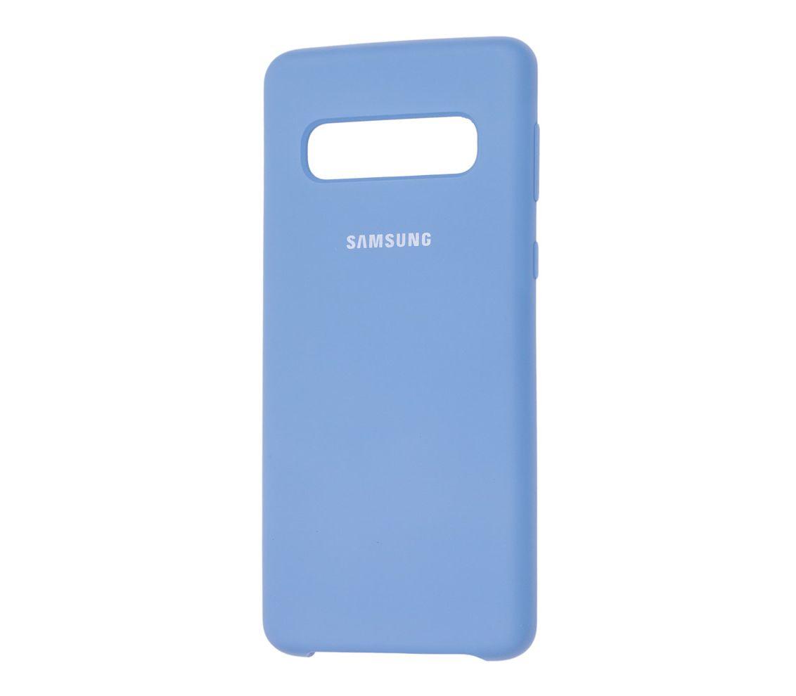 Чехол SILICONE CASE на SAMSUNG S10, голубой чехол клип кейс samsung для samsung galaxy s9 silicone cover черный ef pg960tbegru