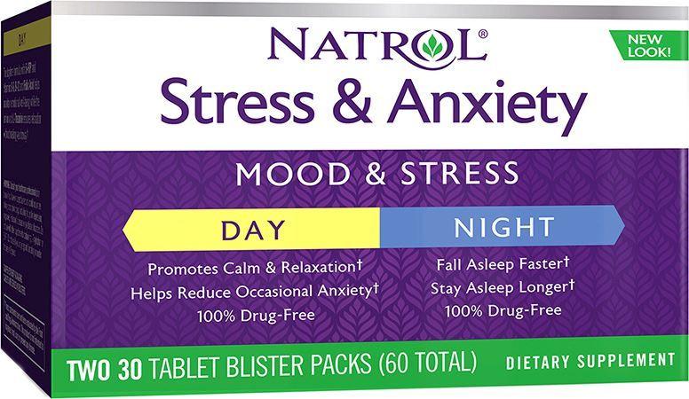 Витамины Natrol Stress&Anxiety Day+Nite 30+30 цена