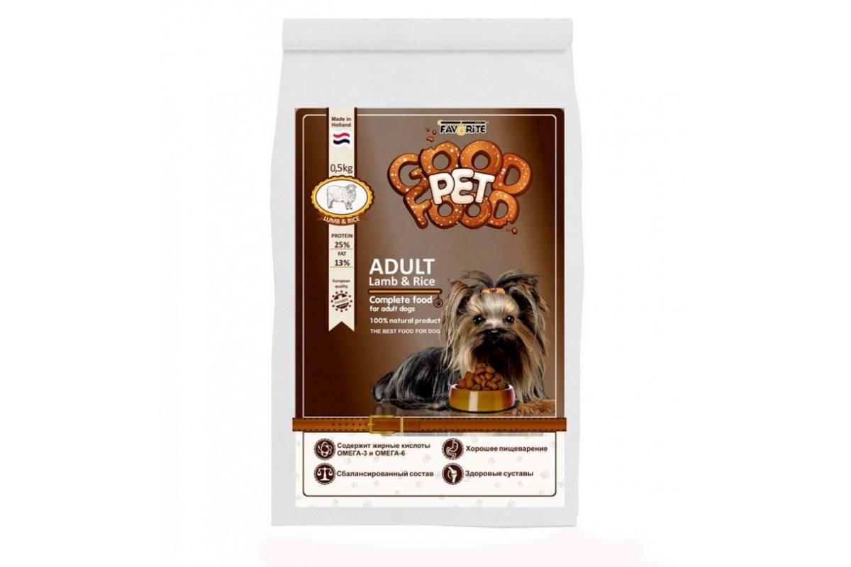 Сухой корм для Собак МАЛЕНЬКИХ ПОРОД. Good Pet Food Small Breed , 0,5 кг (уп-16шт) все цены