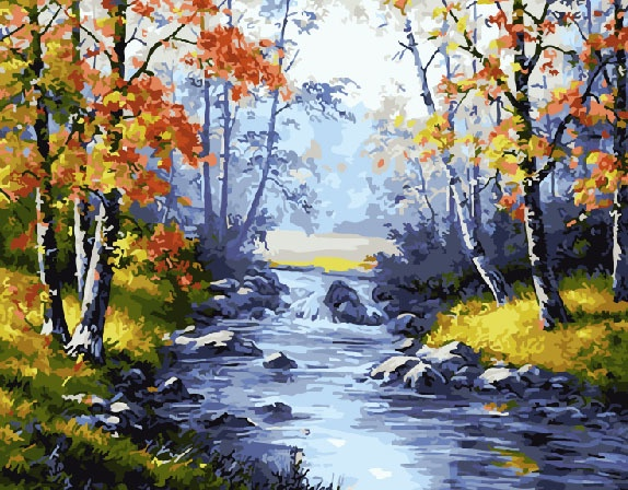 Картина по номерам ВангогВоМне Осенняя природа