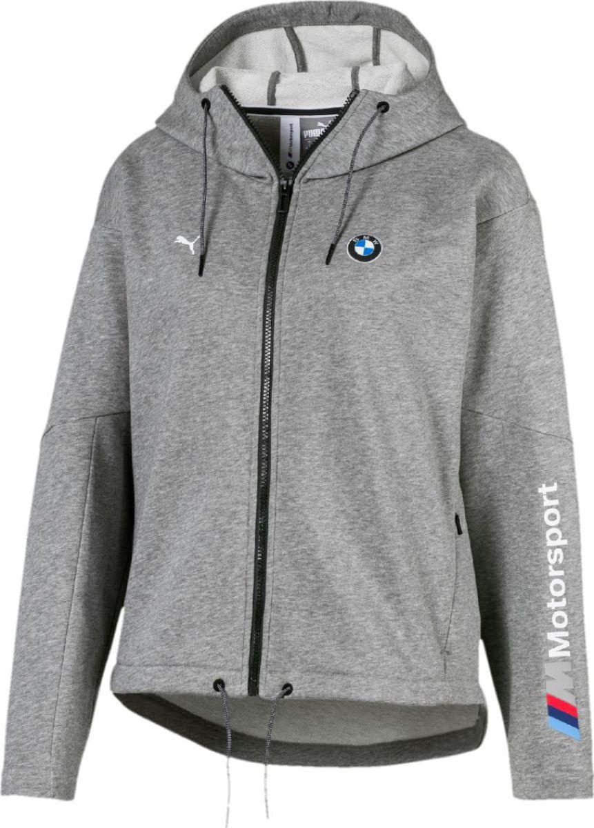 Толстовка PUMA Bmw Mms Wmn Sweat Jacket олимпийка мужская puma bmw ms sweat jacket цвет темно синий 57525601 размер l 48 50