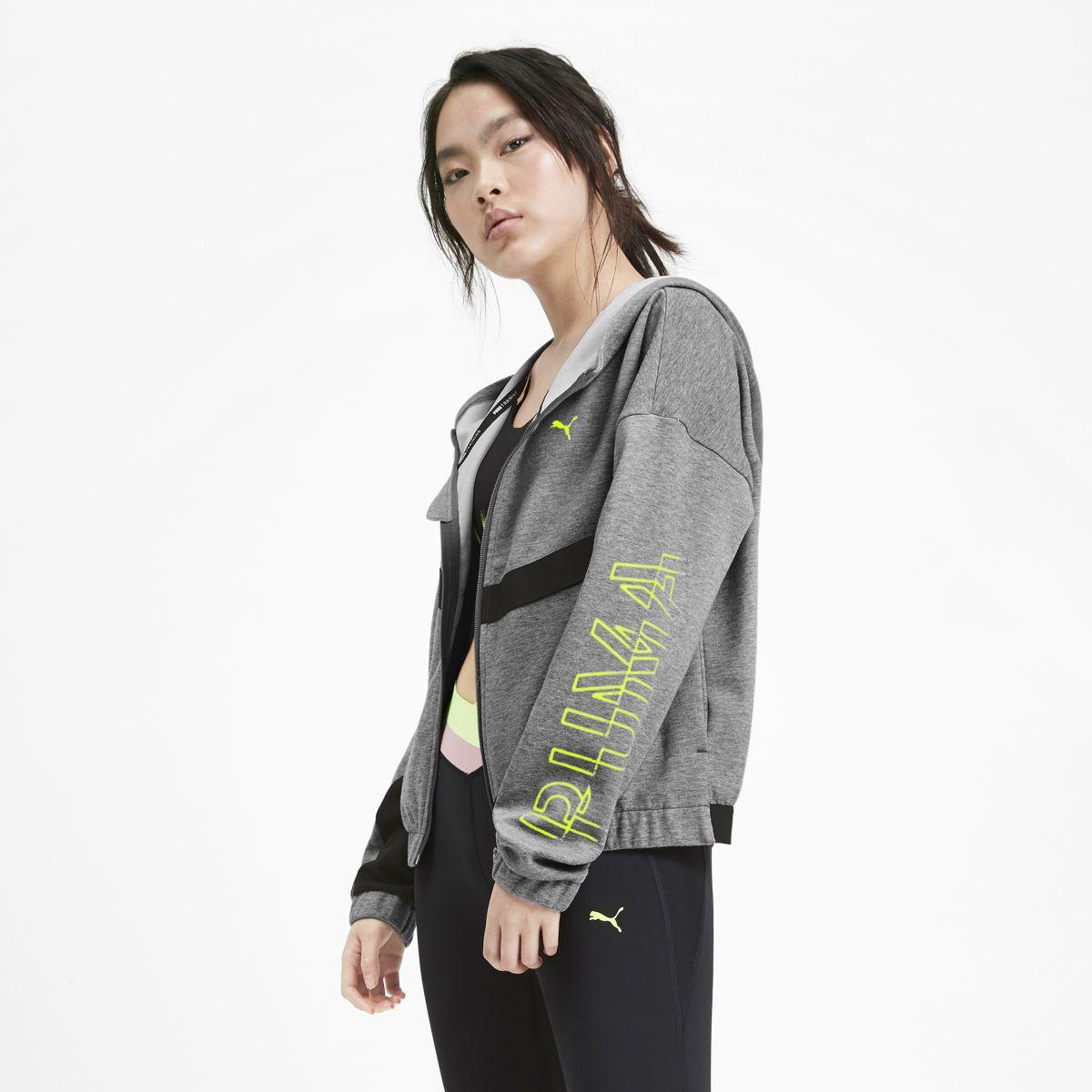 Толстовка PUMA Hit Feel It Sweat Jacket олимпийка мужская puma bmw ms sweat jacket цвет темно синий 57525601 размер l 48 50