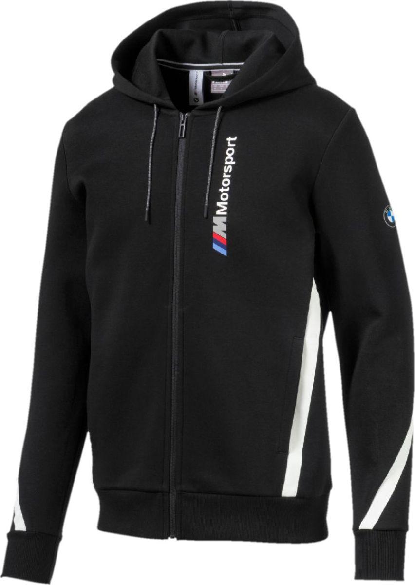 Толстовка PUMA BMW MMS Hooded Sweat Jacket олимпийка мужская puma bmw ms sweat jacket цвет темно синий 57525601 размер l 48 50