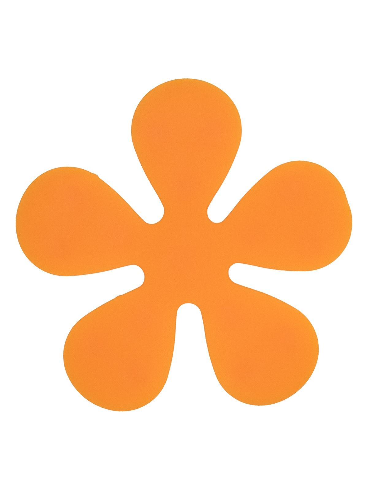 Мини-коврик для ванной комнаты ЦВЕТОК оранжевый