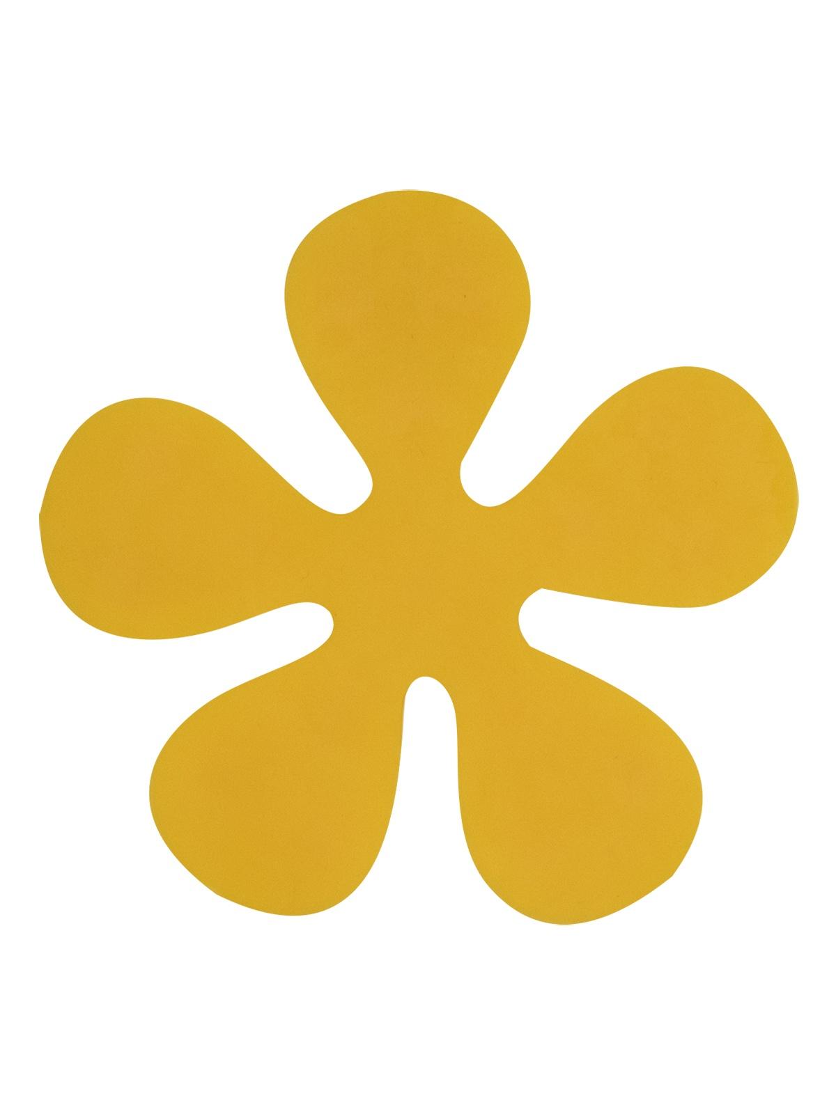 Мини-коврик для ванной комнаты ЦВЕТОК жёлтый
