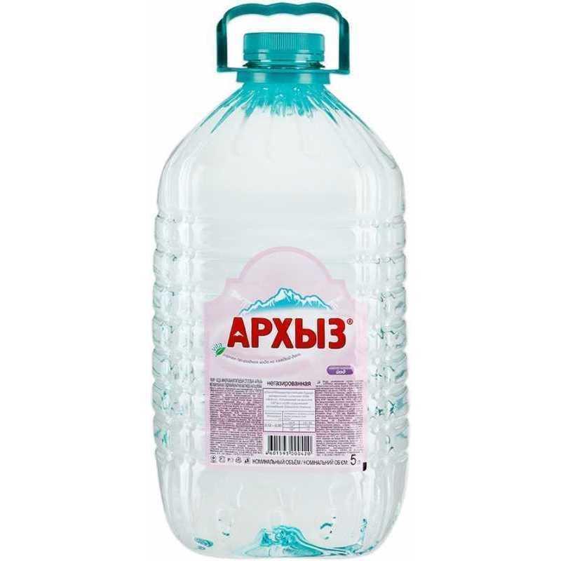 Минеральная вода Архыз негазированная, 5л