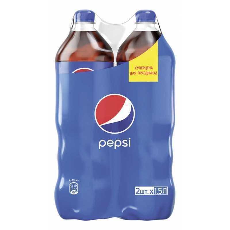 Напиток PEPSI Twin pack газированный, 1,5л напиток газированный pepsi light 1 л