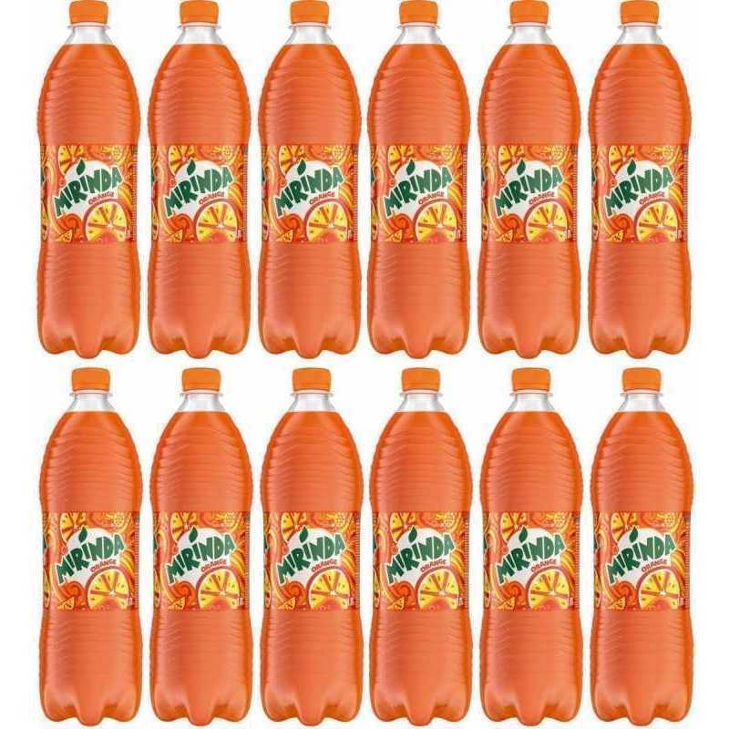 Напиток MIRINDA газированный апельсин (упаковка 12 штук), 1л
