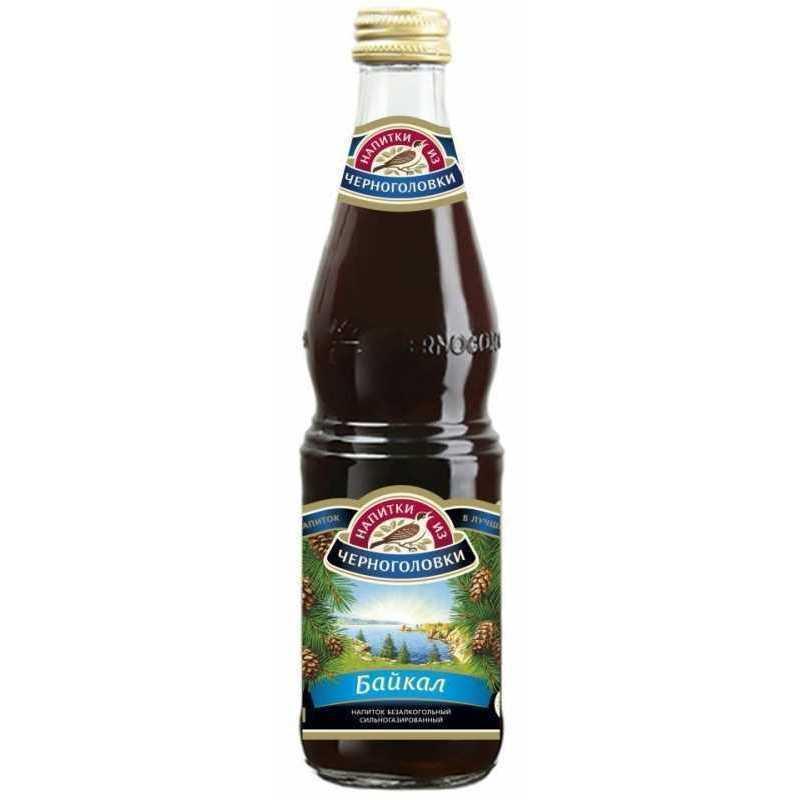 Газированный напиток Напитки из Черноголовки Байкал (стекло), 0,5л (упаковка 12шт)