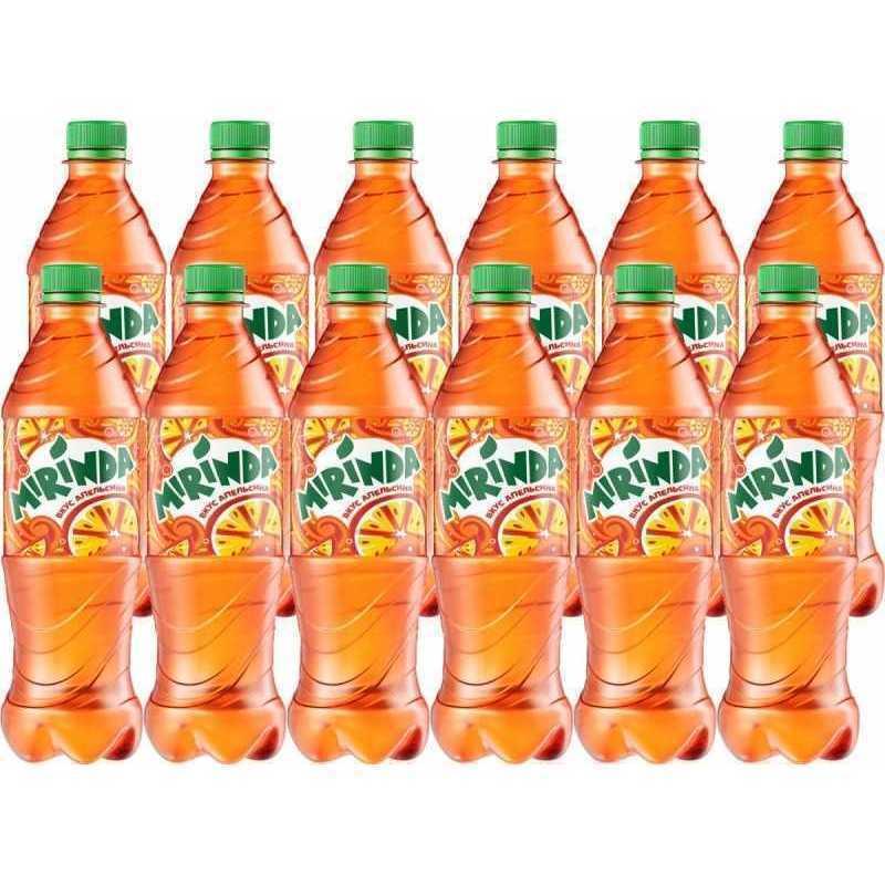 Напиток MIRINDA газированный апельсин (упаковка 12 штук), 0,5л