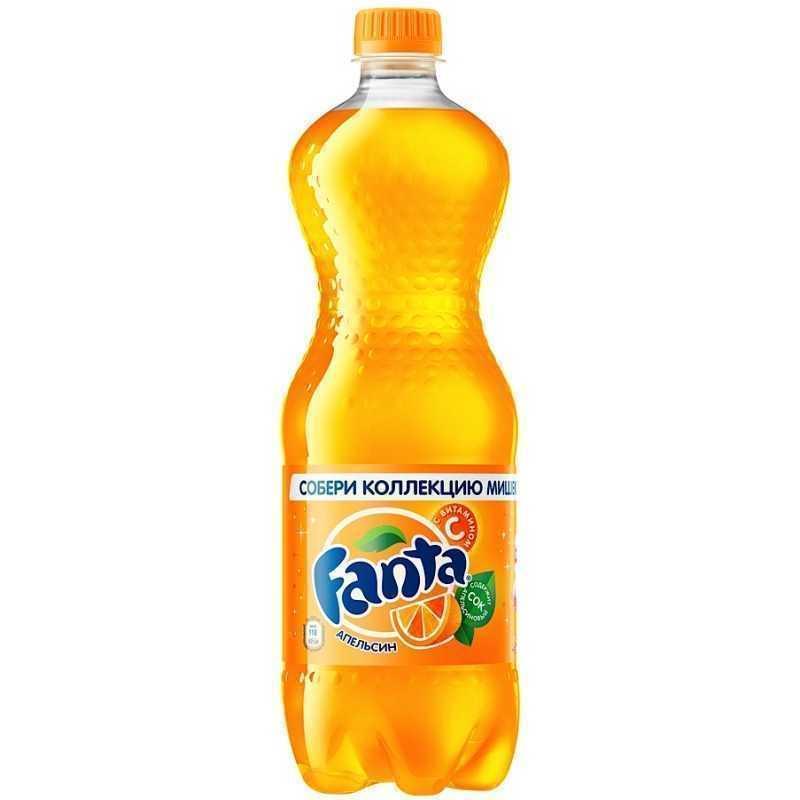 Напиток Fanta Апельсин сильногазированный, 1л (упаковка 12шт)