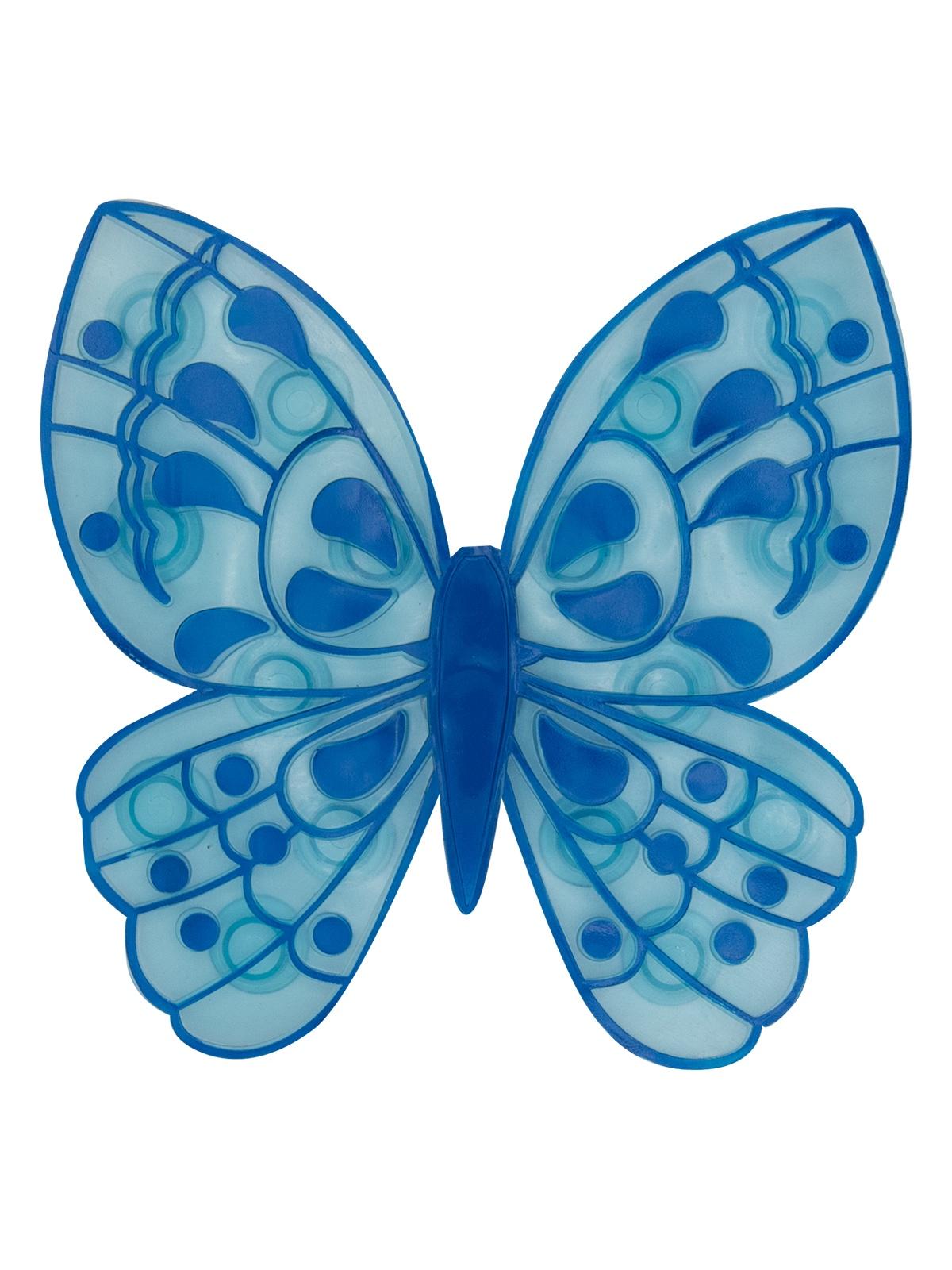 Мини-коврик для ванной комнаты БАБОЧКА синяя