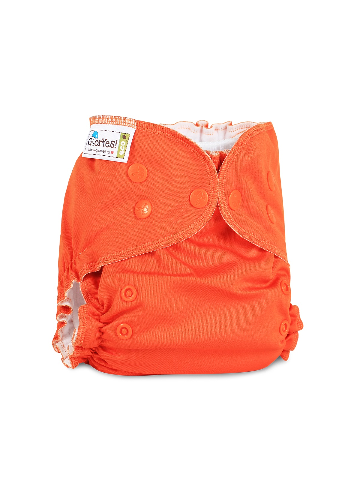 Фото - Многоразовый подгузник GlorYes! CLASSIC+ Апельсин глориес многоразовый подгузник классик сафари 3 18кг 2 вкладыша