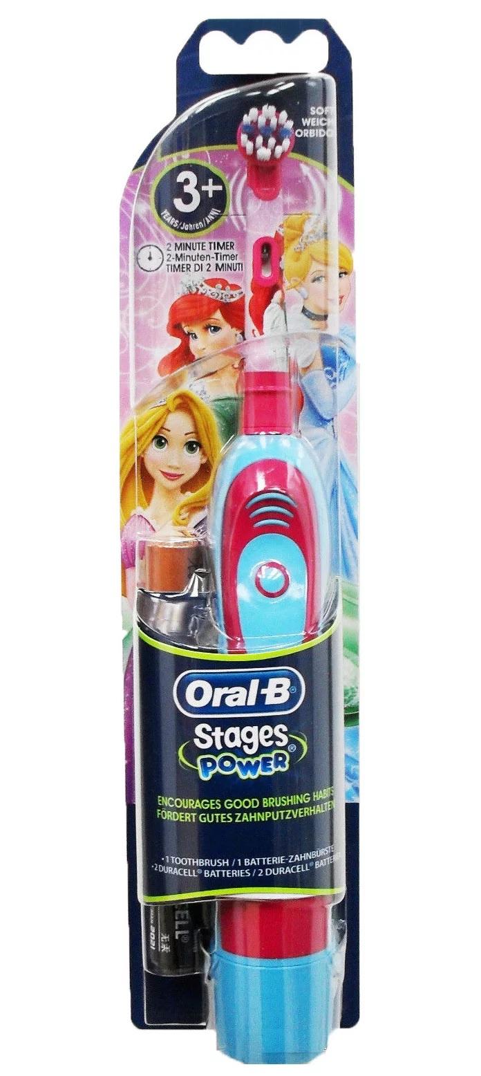 Зубная щетка детская Braun Oral-B Stages Power DB4.510.K, принцессы, с 3 лет