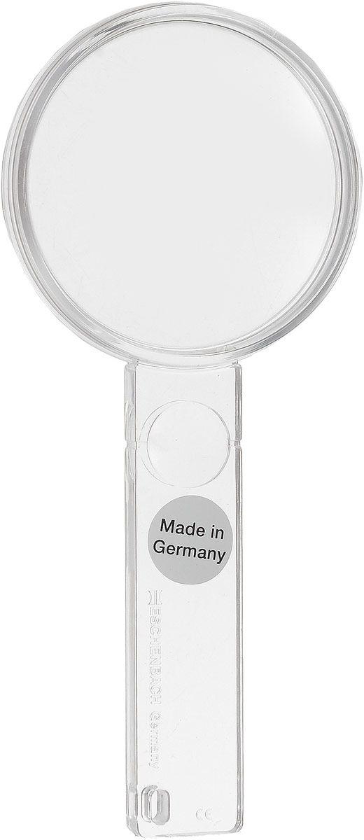 Лупа двояковыпуклая ручная Eschenbach, диаметр 45 мм, 3.25х, 9.0 дптр с дополнительной плоско-выпуклой линзой на рукоятке 5.0х