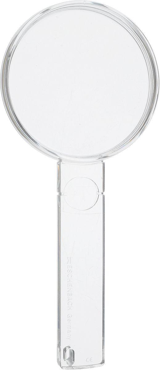 Лупа двояковыпуклая ручная Eschenbach, диаметр 60 мм, 2.7х, 6.7 дптр с дополнительной плоско-выпуклой линзой на рукоятке 5.0х