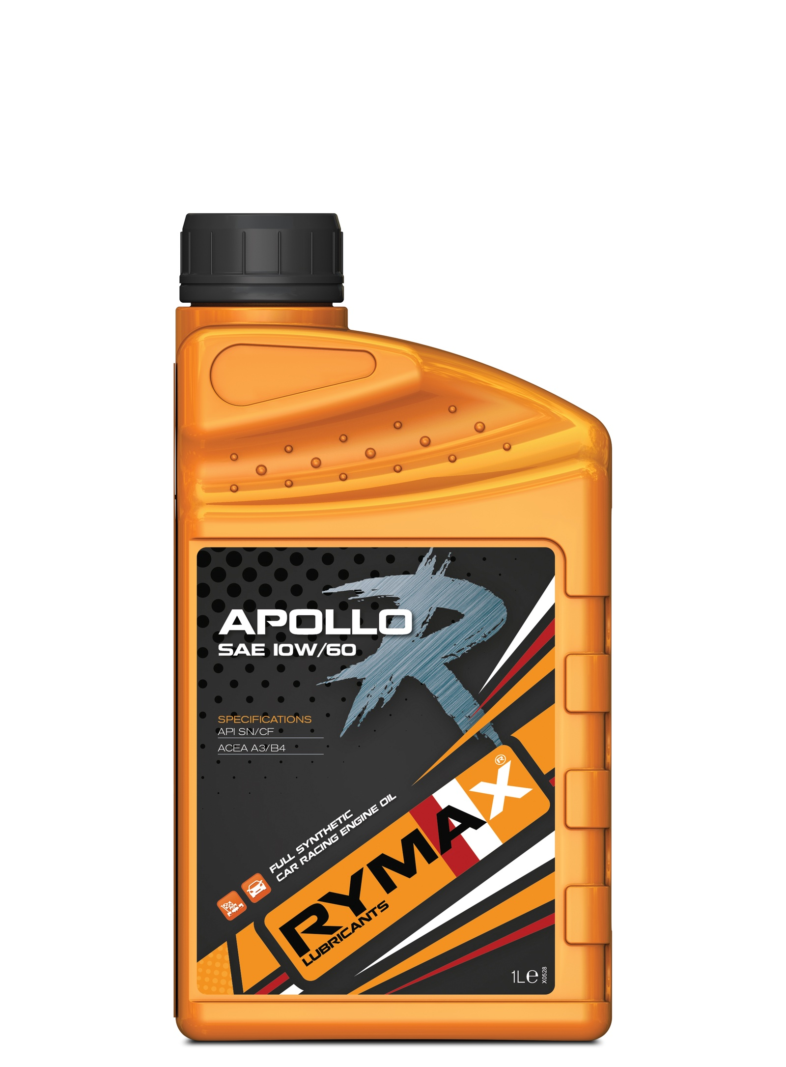 Моторное масло Rymax Apollo R SAE 10W-60, API SN/CF, ACEA A3/B4, спортивное на основе ПАО, 1 л