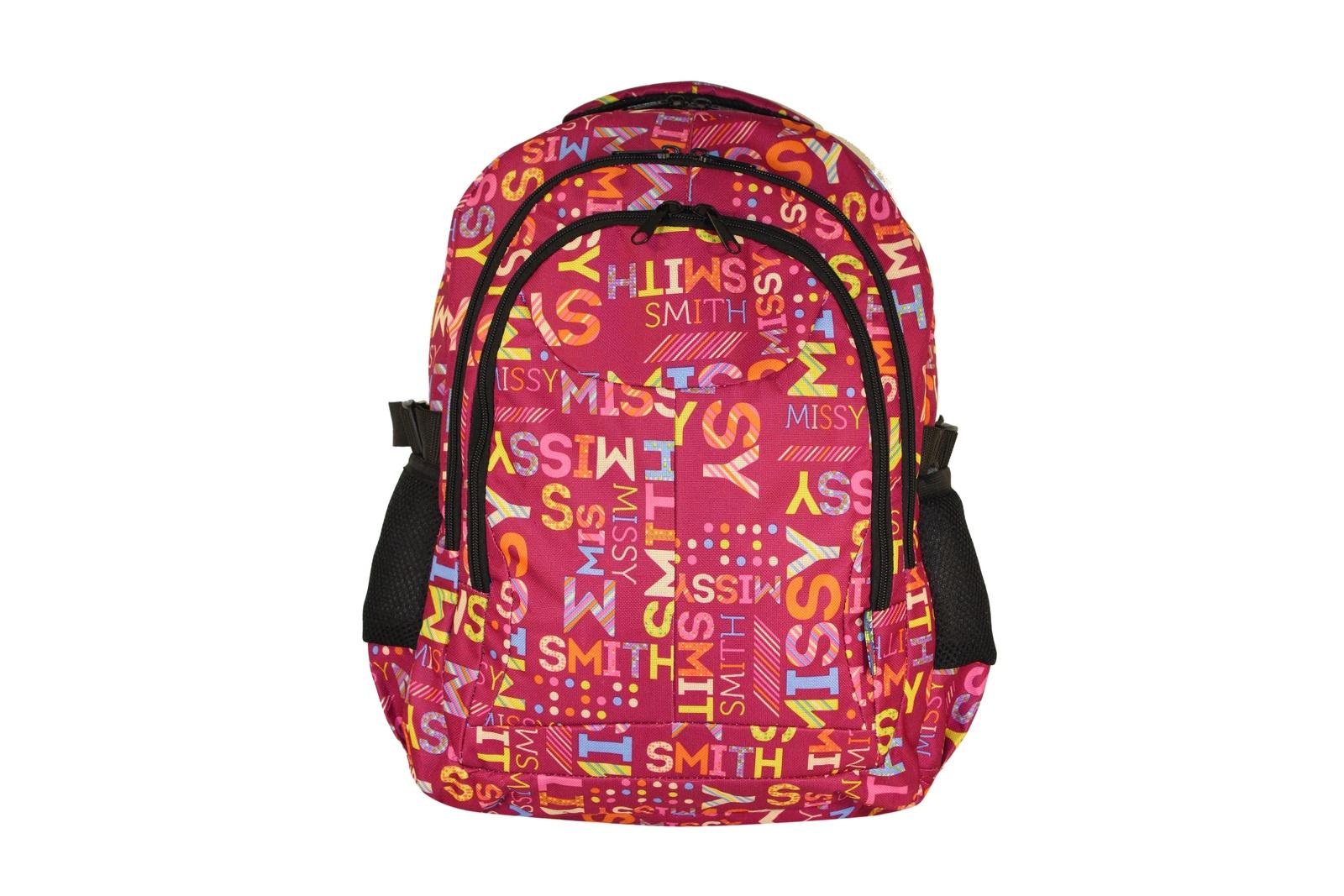 VIVACASE Рюкзак школьный Missy, 3 отделения, оксфорд, розовый (VCN-SCBMSY-pink)