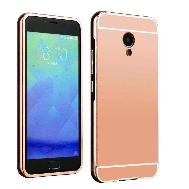 Чехол-бампер MyPads для Huawei P9 c алюминиевым металлическим бампером и поликарбонатной накладкой розовый