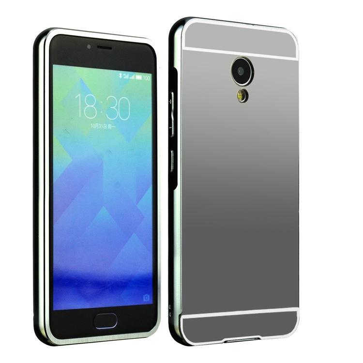 Чехол-бампер MyPads для Huawei Honor 5X c алюминиевым металлическим бампером и поликарбонатной накладкой черный
