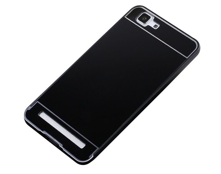 Чехол-бампер MyPads для ZTE Nubia Z9 Mini c алюминиевым металлическим бампером и поликарбонатной накладкой черный цена и фото