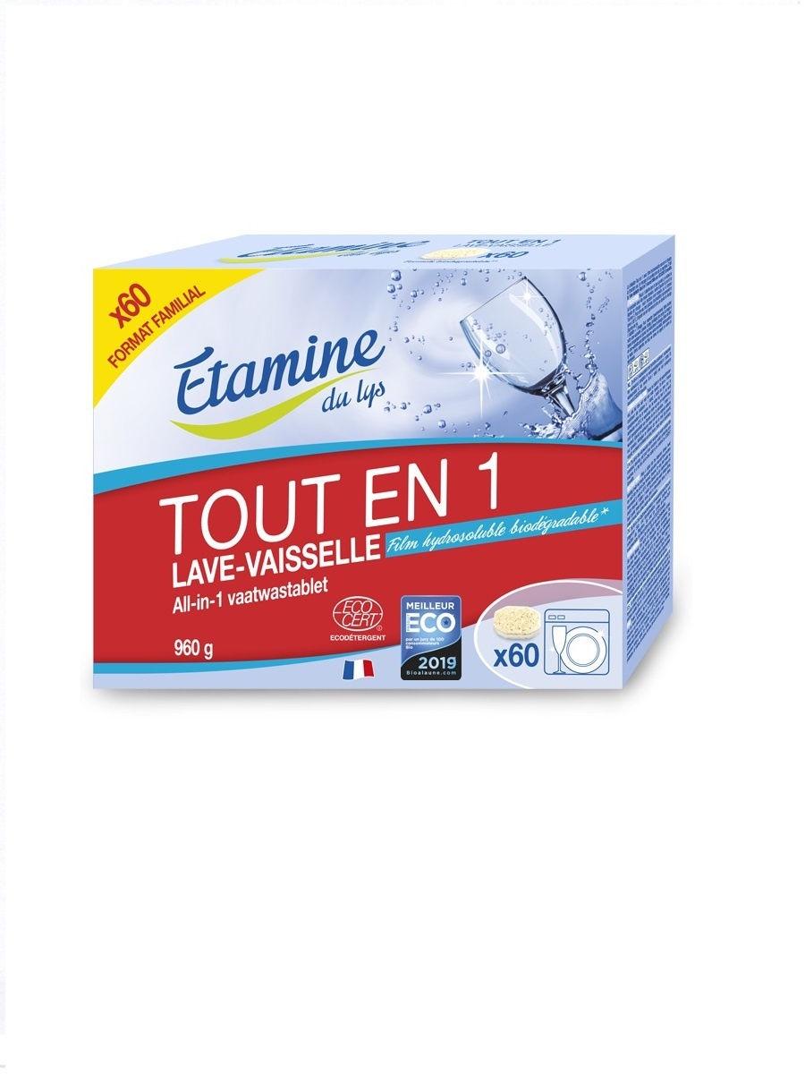 """Etamine Du Lys. Таблетки для посудомоечных машин """"ВСЕ в 1"""" х60"""