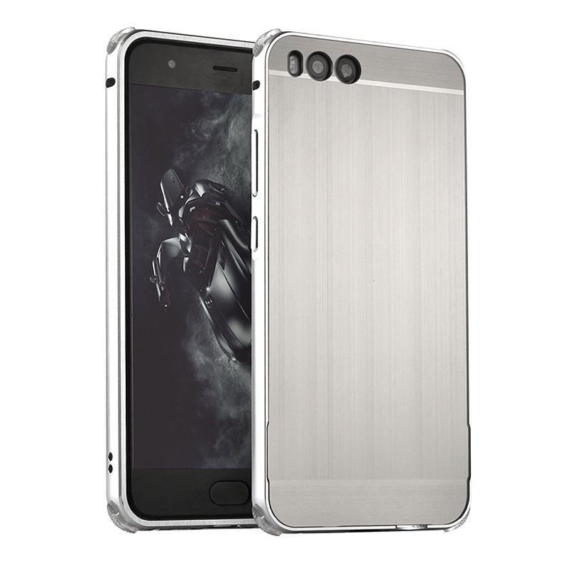 Чехол-бампер MyPads для Xiaomi Mi5 c алюминиевым металлическим бампером и поликарбонатной накладкой серебристый