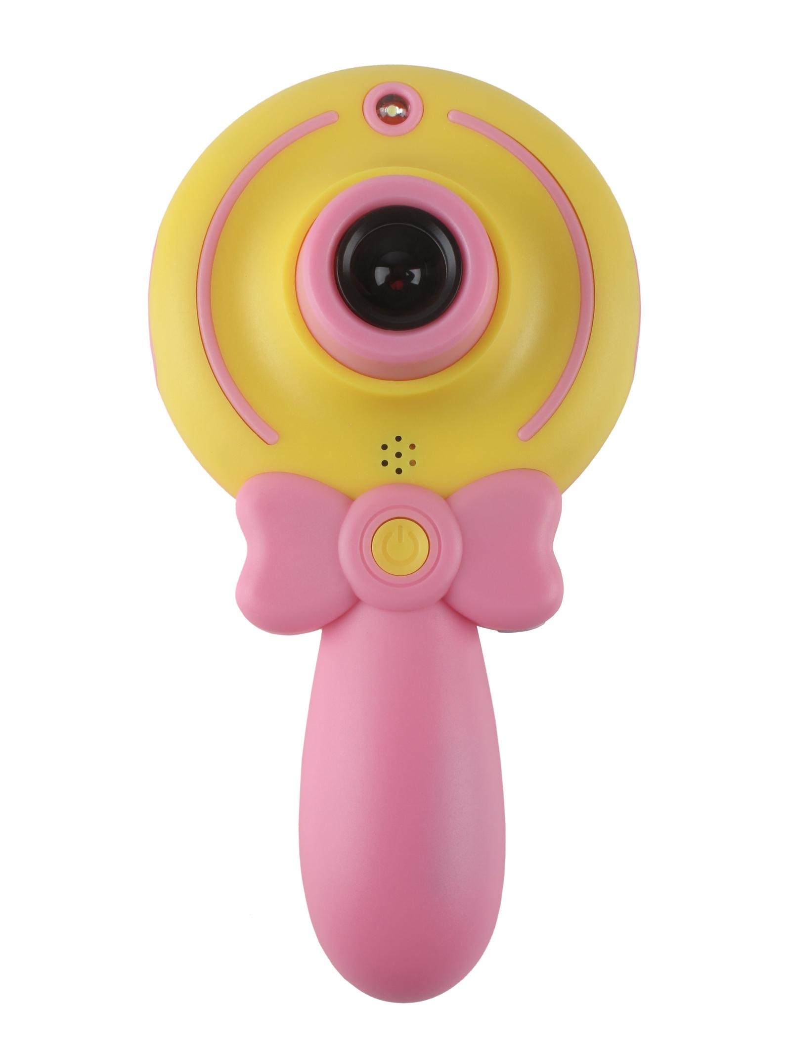 Фотоаппарат детский Волшебная палочка P345, цвет розовый/желтый
