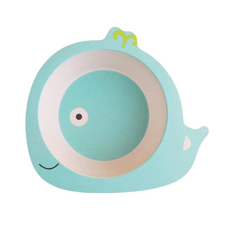 Детская тарелка в форме кита, цвет голубой, 17х16,5х4,8 см