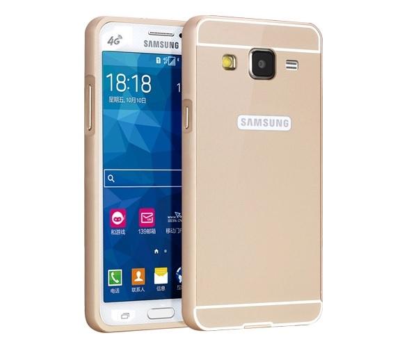Чехол-бампер MyPads для Samsung Galaxy Core Prime G360 c алюминиевым металлическим бампером и поликарбонатной накладкой золотой цена