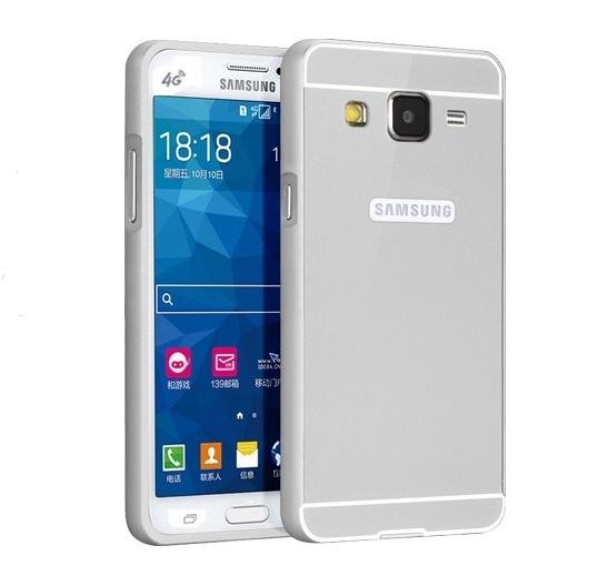 Чехол-бампер MyPads для Samsung Galaxy Core Prime G360 c алюминиевым металлическим бампером и поликарбонатной накладкой серебристый цена