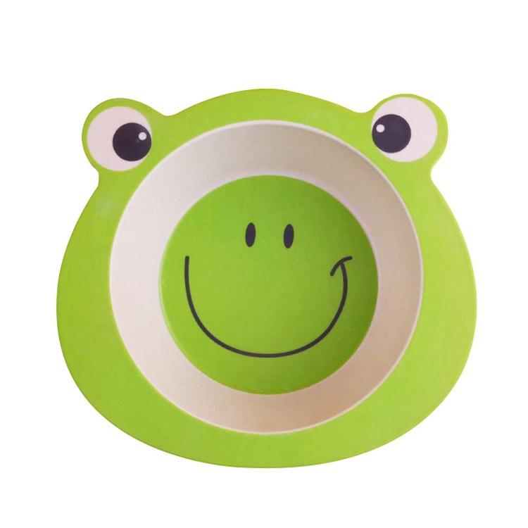 Детская тарелка в форме лягушки, цвет зеленый, 17х16,5х4,8 см