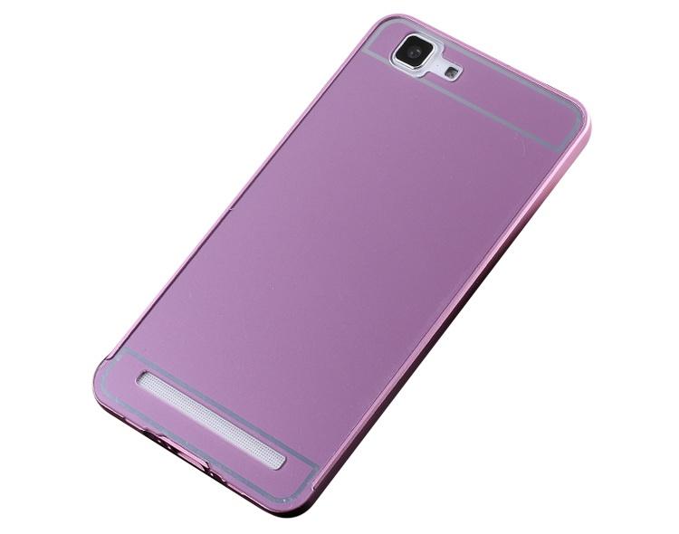 Чехол-бампер MyPads для Meizu MX4 c алюминиевым металлическим бампером и поликарбонатной накладкой розовый