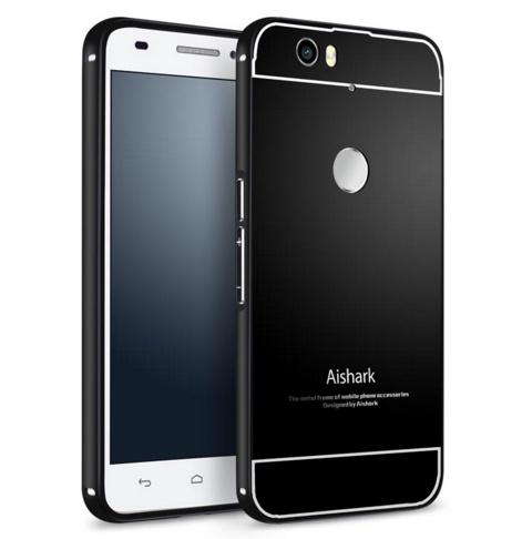 Чехол-бампер MyPads для Huawei Nexus 6P c алюминиевым металлическим бампером и поликарбонатной накладкой черный